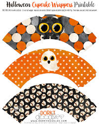 watercolor halloween cupcake wrappers printable u2013 dorky doodles