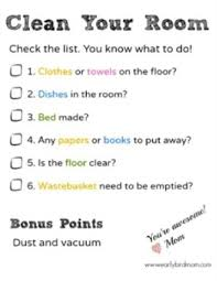 clean bedroom checklist printable bedroom cleaning checklist for kids free printable