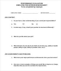 employee evaluation template 9 free word pdf documents
