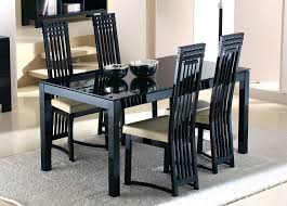 black glass kitchen table minimalist modern black glass dining table set home furniture