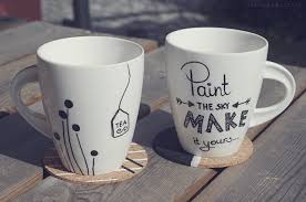 tassen sprüche regensplitter pluviophile diy painted mugs