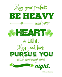 st patrick u0027s day printable irish blessing always the holidays