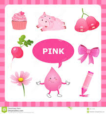 Pink Colour by Learning Pink Color Stock Vector Image 54711137