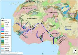 Rivers Of Africa Map by Reconstruction Of The Evolution Of The Niger River And