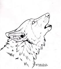 wolf face coloring page free to color only howling wolf line art by natsumewolf on deviantart