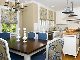 fabric ideas for dining room chairs moncler factory outlets com scenic black iron rustic chandelier over two tone dining table also blue fabric backseat chairs as