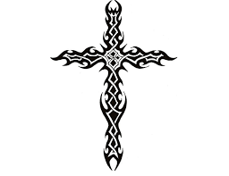awful tribal celtic cross design tattooshunt com