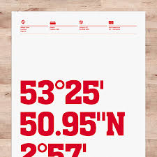 Liverpool Wall Stickers Liverpool Stadium Coordinates Football Print By Dinkit