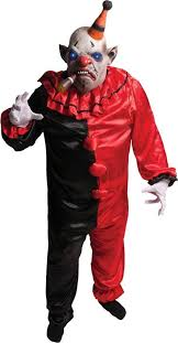 Evil Clown Halloween Costume Light Smokey Scary Clown Costume Scary Clown
