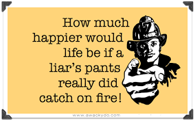 Compulsive Liar Memes - image liar liar pants on fire hanging on a telephone wire