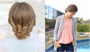 hair styles for 44 year ol ladies the woven updo cute girls hairstyles youtube