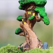 tree house mini garden ornament miniature figurine craft diy
