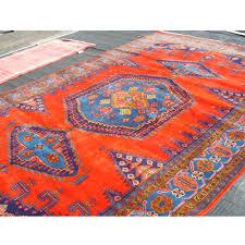 Azari Rugs Persian Rug Vibrant Orange And Blues M And K Dream Pinterest