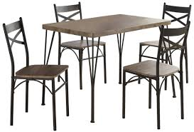 Industrial Style Dining Room Tables Laurel Foundry Modern Farmhouse Sagers 5 Piece Industrial Style