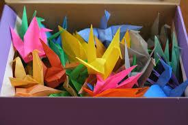 paper cranes for japan hapamama