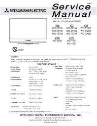 mitsubishi service manual for dlp projection hdtv model wd 57733