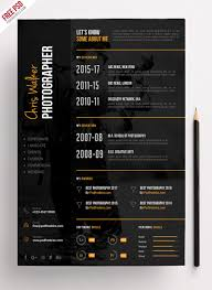 photographer resume template photographer resume cv psd template psdfreebies photography resume