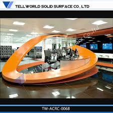 Fancy Reception Desk Shoe Shape Reception Desk Fancy Seamless Joint Reception Counter