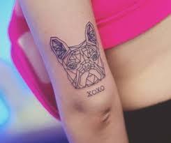 tricep tattoo pinterest little polygon french bulldog tattoo on the tricep tattoo artist