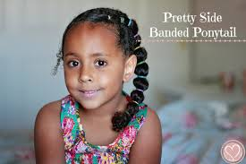 cute mixed boy hair styles pretty side banded ponytail curly mixed hairstyles kid