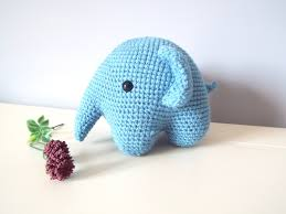 soft elephant amigurumi toys dolls gift ideas home decor crochet