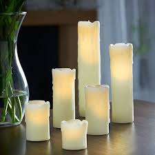 vonhaus set of 6 flameless real wax electric led