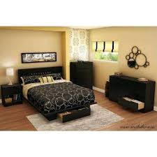 Modern Black Nightstands Modern Black Nightstands Bedroom Furniture The Home Depot