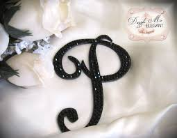 letter wedding cake toppers black wedding cake topper black cake topper