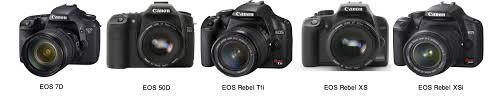 getitdigital canon comparison 5 models eos 7d 50d rebel t1i xsi