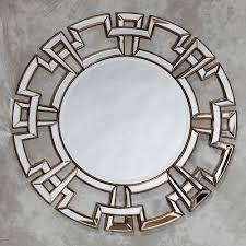 Circle Wall Mirrors Aztec Design Deep Gold Large Round Wall Mirror 120 X 120 Cm Aztec