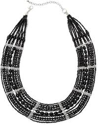 black beaded collar necklace images Black seed bead necklace necklace wallpaper jpg