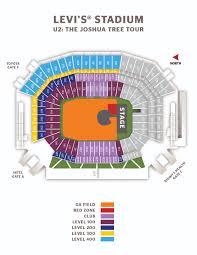 San Francisco Street Parking Map by U2 The Joshua Tree Tour Levi U0027s Stadium