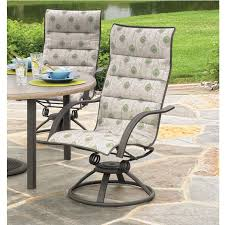 Swivel Rocker Patio Dining Sets Homecrest Palisade Sling High Back Patio Swivel Rocker Dining