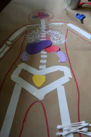 pink and green mama life sized body map kid u0027s art project