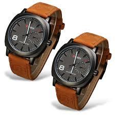 men set buy curren series brown sports analog for men set