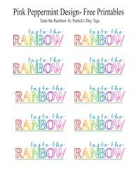free st patrick u0027s day printables taste the rainbow pink