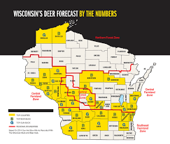 Wisconsin Counties Map by 2015 Trophy Deer Forecast Wisconsin Game U0026 Fish