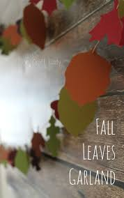 fall paper leaves garland the crazy craft lady