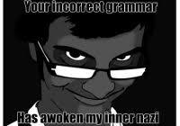 Grammer Nazi Meme - elegant grammar nazi memes image meme grammar nazi halo fanon