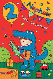 nephew 2nd birthday card 2 year old birthday card lilbib free