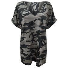 army pattern crop top new womens army grey printed halter neck crop top boobtube baggy t