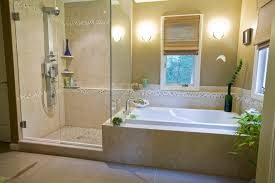 Bathroom With Bath And Shower Gorgeous Shower Stall Curtainsin Bathroom Tropical With Graceful