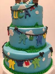 mymonicakes rubber duckie clothes line baby shower cake
