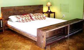 Diy Platform Bed Plans Furniture by Diy Platform Pallet Bed Plan With Storage 101 Pallets