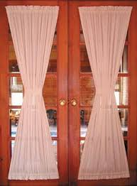 Curtains For Interior French Doors Features Casual Woven Fabric Fits Patio French Doors Sold