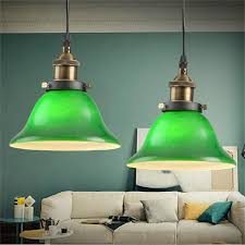 Green Pendant Lights Aliexpress Buy American Country Style Vintage Emerald Green
