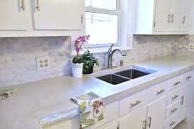 Diy Kitchen Makeover Ideas Gorgeous Budget Kitchen Makeover With White Concrete Countertops