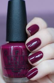 o p nails in maroon raspberry nails beautiful fall nails