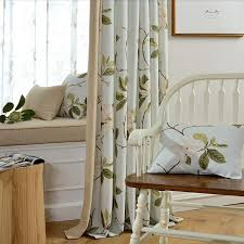 country living room curtains floral print linen cotton blend country living room curtains