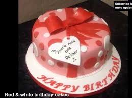 red u0026 white birthday cakes the color red sweet cake pics ideas